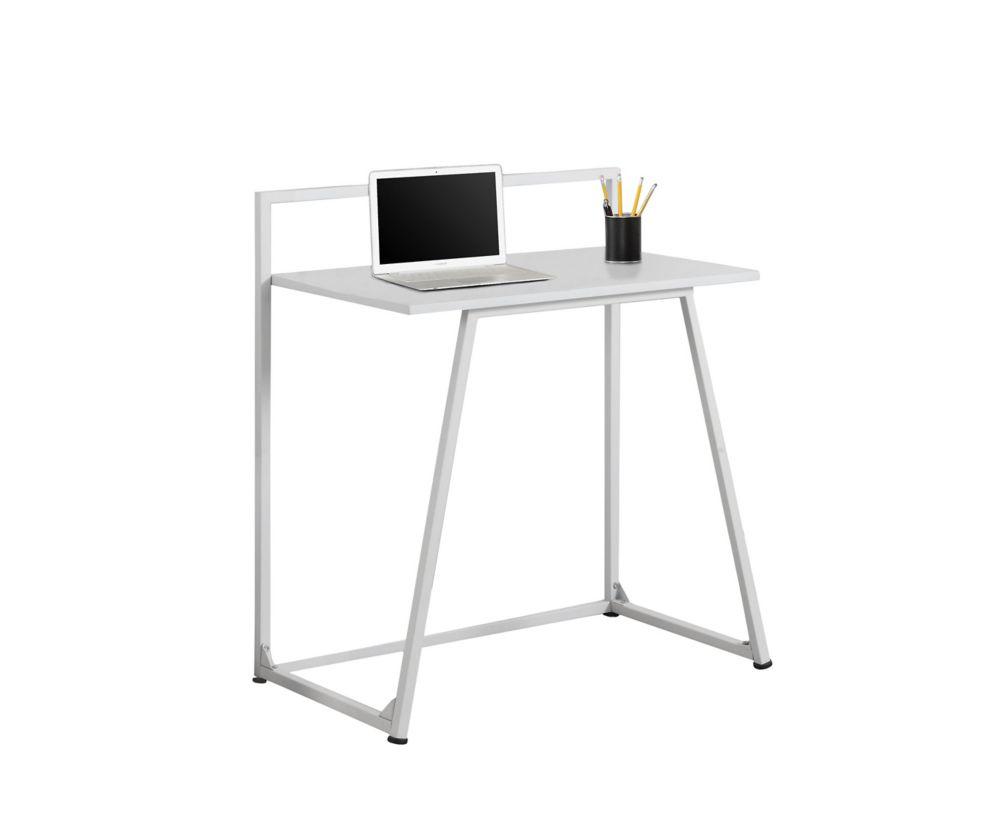 Computer Desk - 32 Inch L / Juvenile White / White Metal