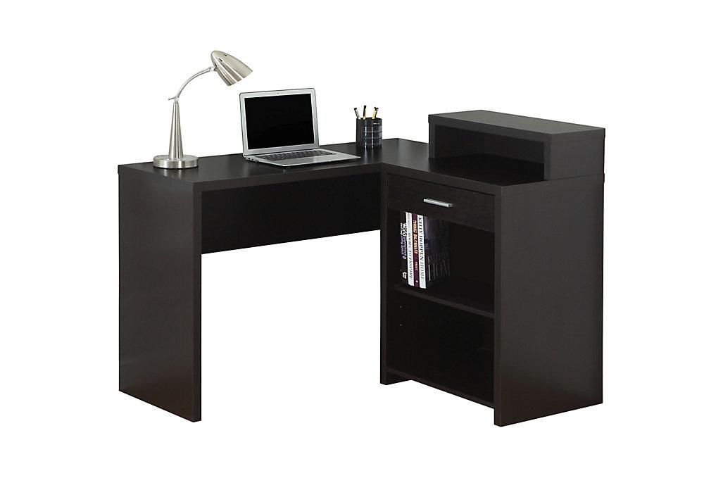 47-inch x 37-inch x 41-inch Standard Computer Desk in Black