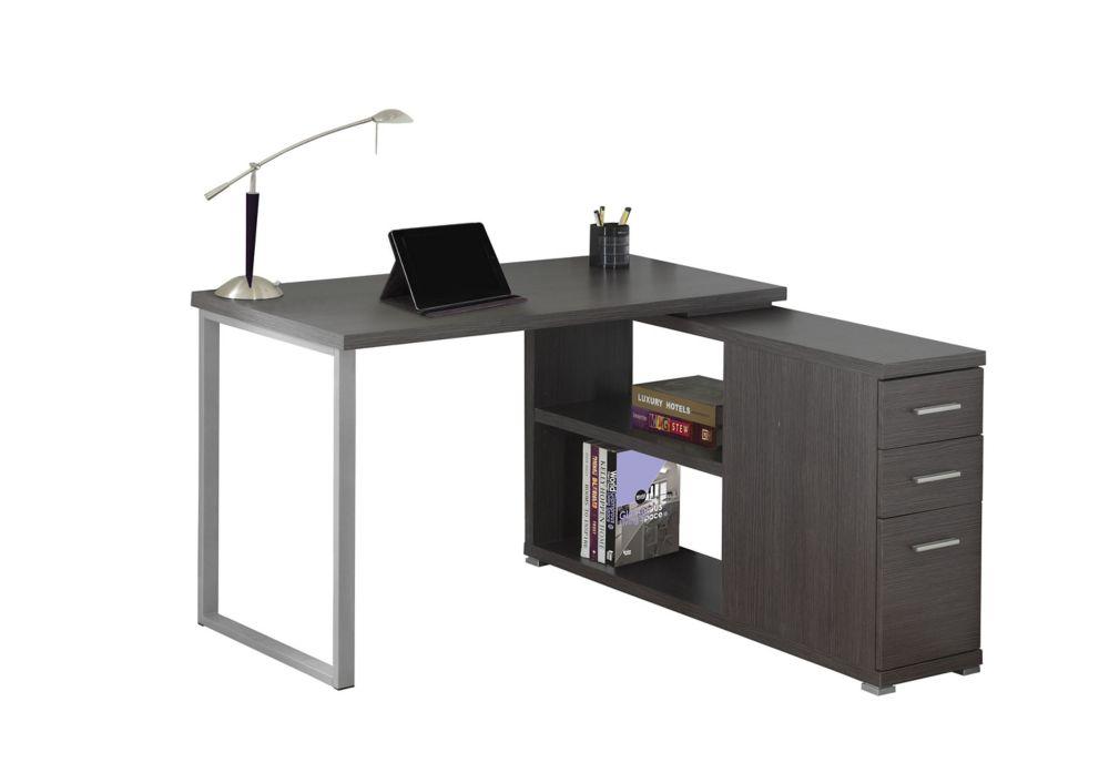 Computer Desk - Grey Left Or Right Facing Corner