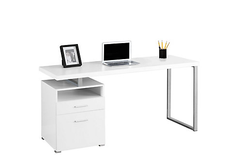 computer fab desk height office modern corner glass most dimensions inventiveness chair white
