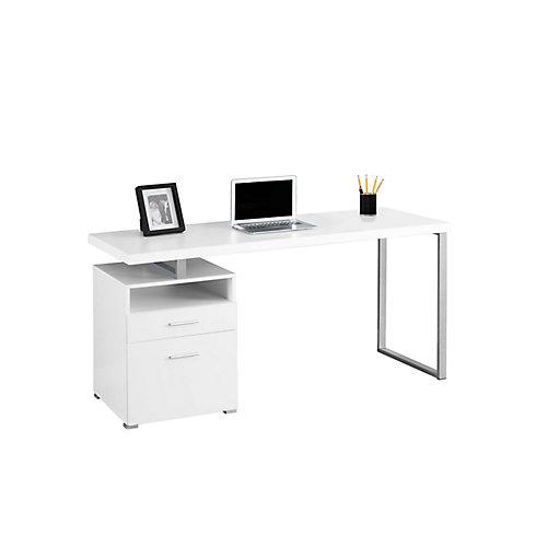 60-inch x 30-inch x 24-inch Standard Computer Desk in White
