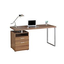 Monarch Specialties 60-inch x 30-inch x 24-inch Standard Computer Desk in Walnut