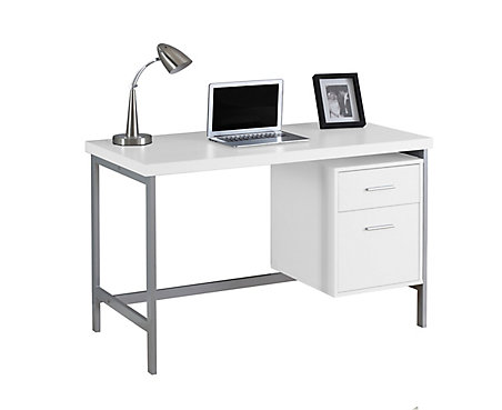 Monarch Specialties 47 Inch X 31 24 Standard Computer Desk In White The Home Depot Canada