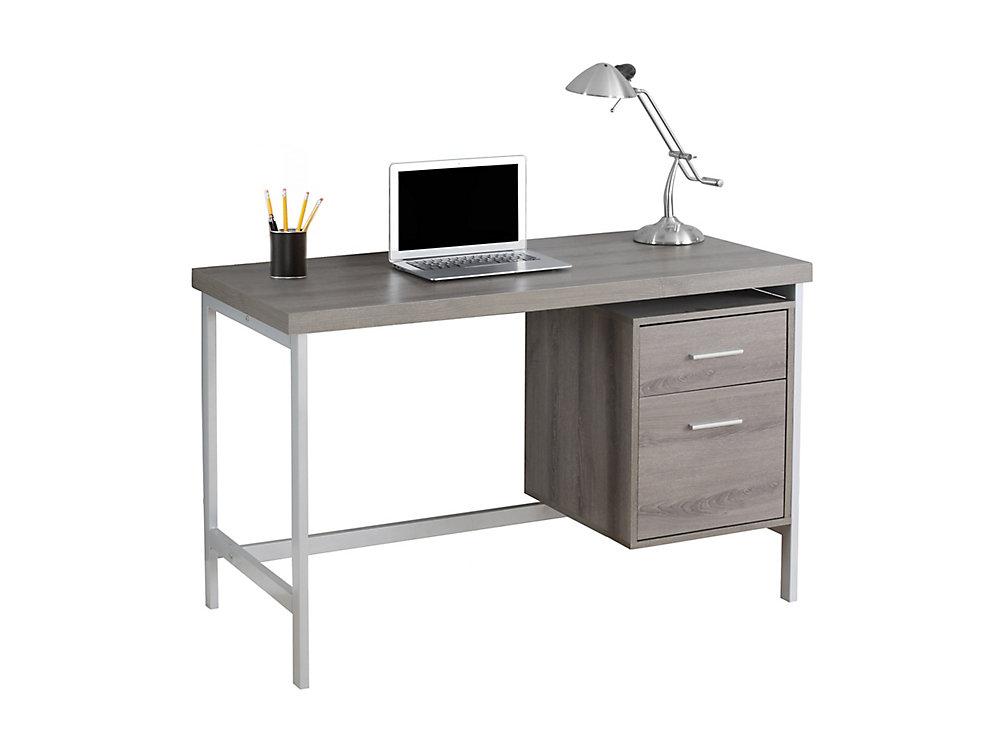 Bureau d'ordinateur standard, 47po x 31po x 24po, gris