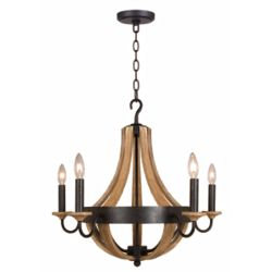 Home Decorators Collection Talo 5-Light Driftwood Chandelier