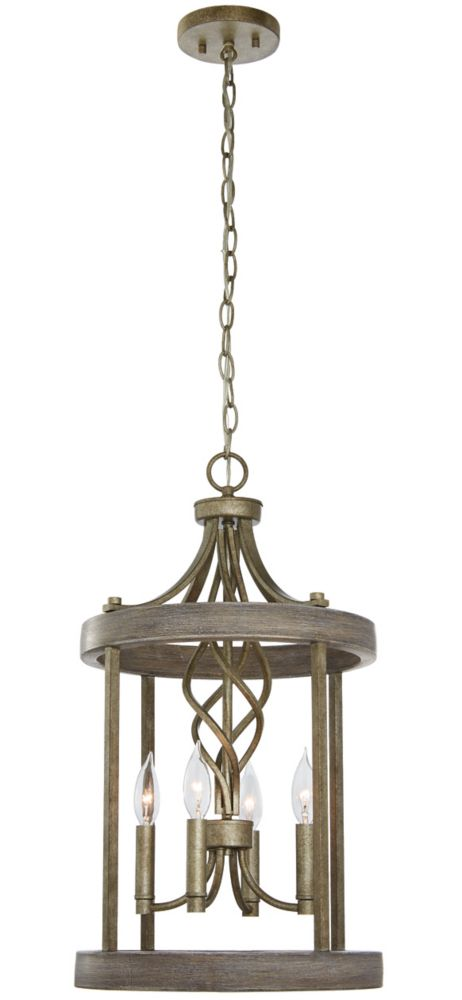 Home Decorators Collection Auretta Collection 4-light Gilded Pewter Pendant