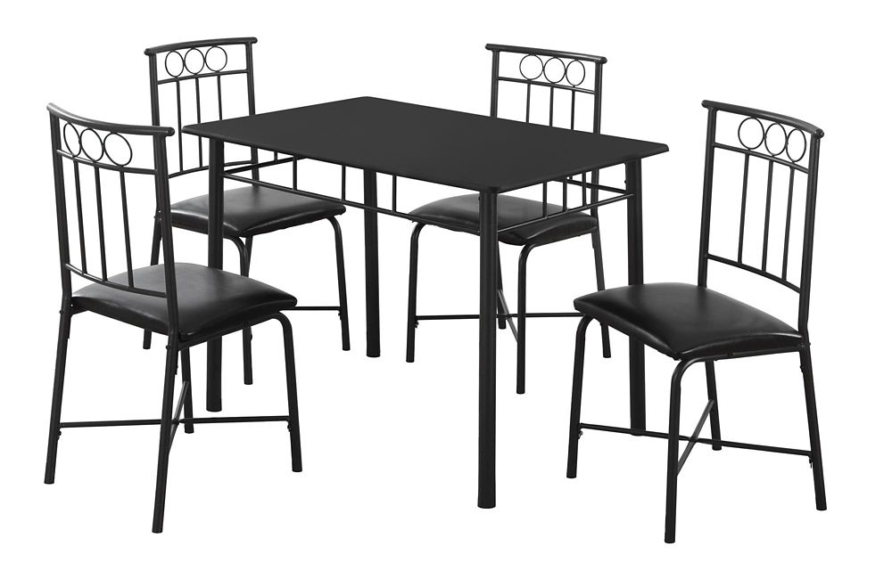 corliving bistro 5pc 36 inch counter height rich cappuccino dining set pewter grey the home. Black Bedroom Furniture Sets. Home Design Ideas