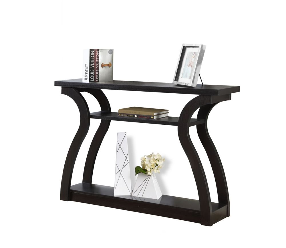 """Table D'Appoint - 47""""L / Console D'Entree Cappuccino"""
