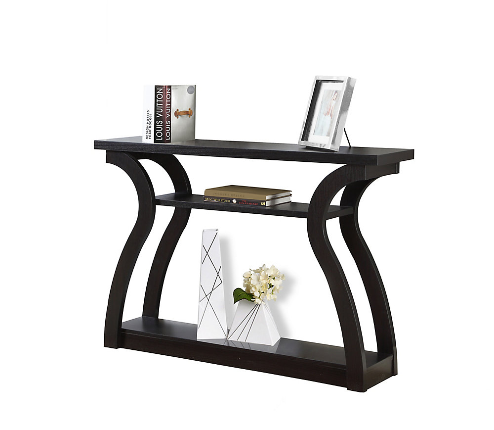 Pleasing Accent Table 47 Inch L Cappuccino Hall Console Interior Design Ideas Inesswwsoteloinfo