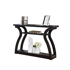 Accent Table - 47 Inch L / Cappuccino Hall Console