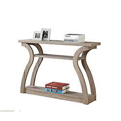 Monarch Specialties Accent Table - 47 Inch L / Dark Taupe Hall Console