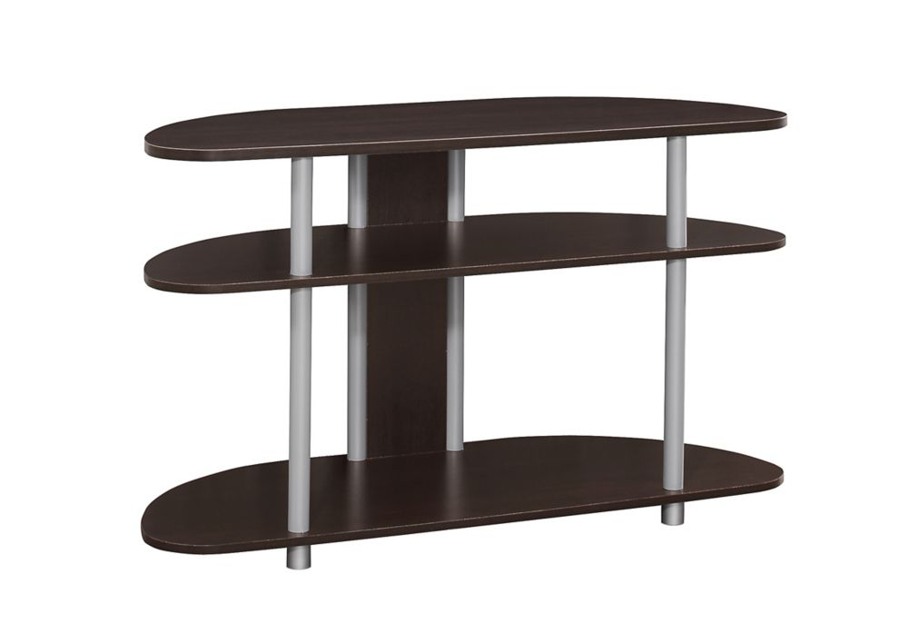 Monarch Specialties Tv Stand - 38 Inch L / Cappuccino With Silver Accent