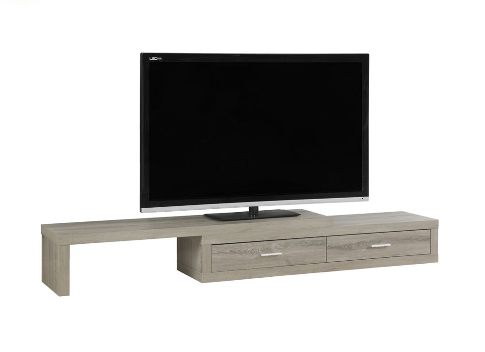 Tv Stand - 60 Inch L To 98 Inch L / Expandable / Dark Taupe