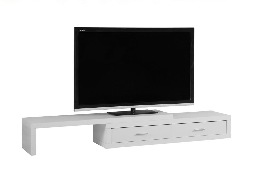 Tv Stand - 60 Inch L To 98 Inch L / Expandable / White