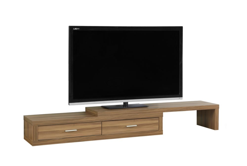 Tv Stand - 60 Inch L To 98 Inch L / Expandable / Walnut