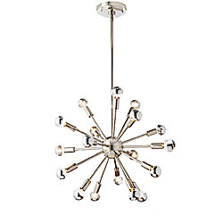 Home Decorators Collection Mattison Collection 18-Light Chandelier with Mirrored Bulbs