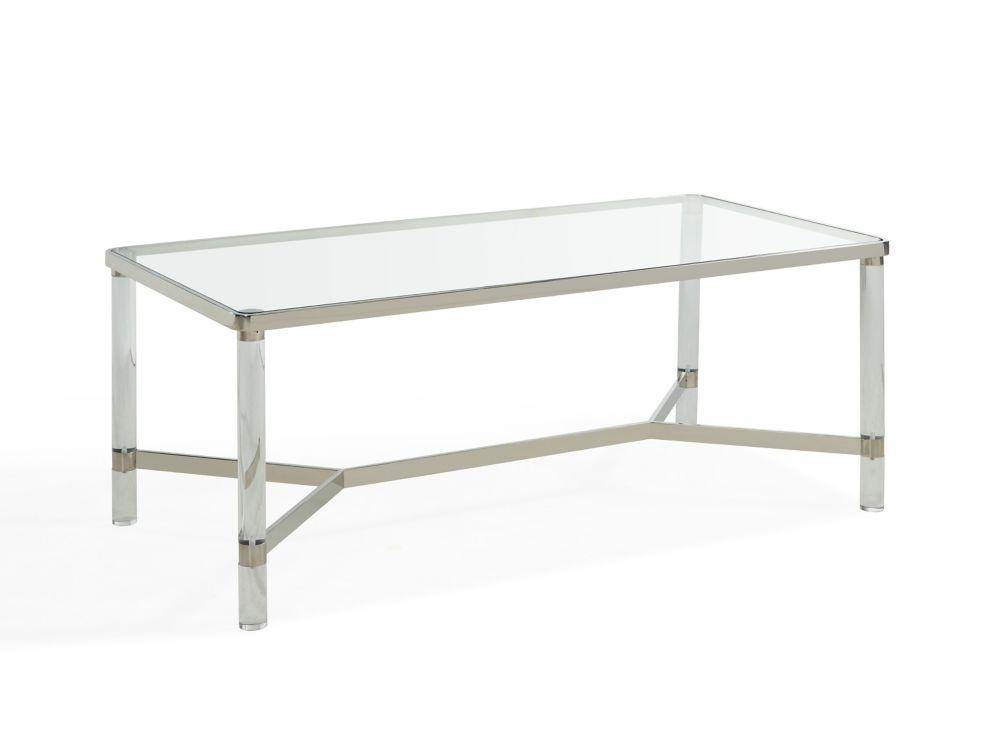 !nspire Morelia table de basse - Chrome