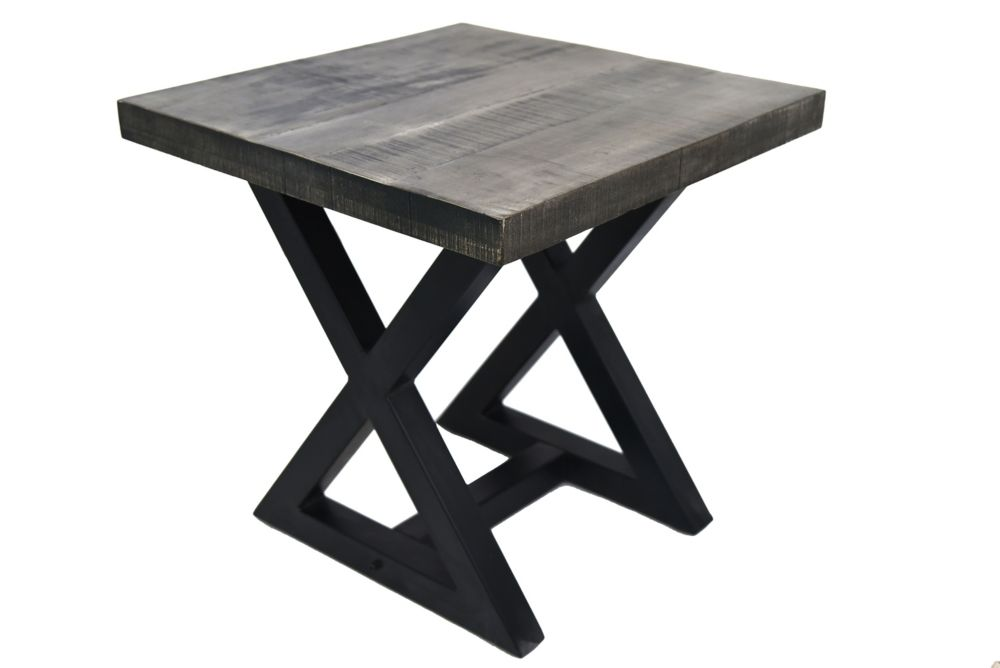 Zax-Accent Table-Distressed Grey