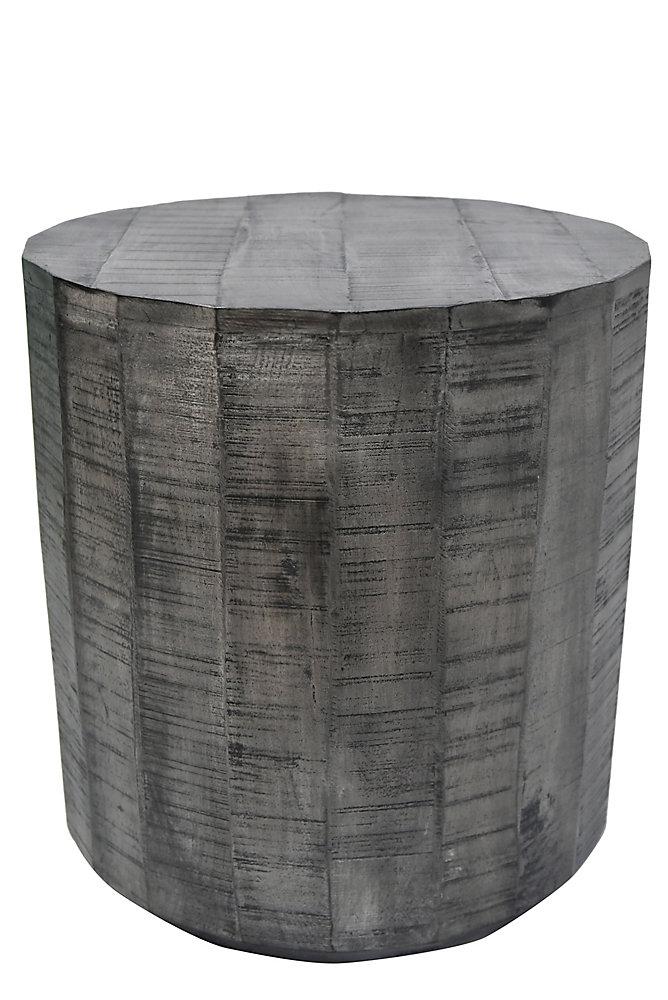 Eva-Accent Table-Distressed Grey
