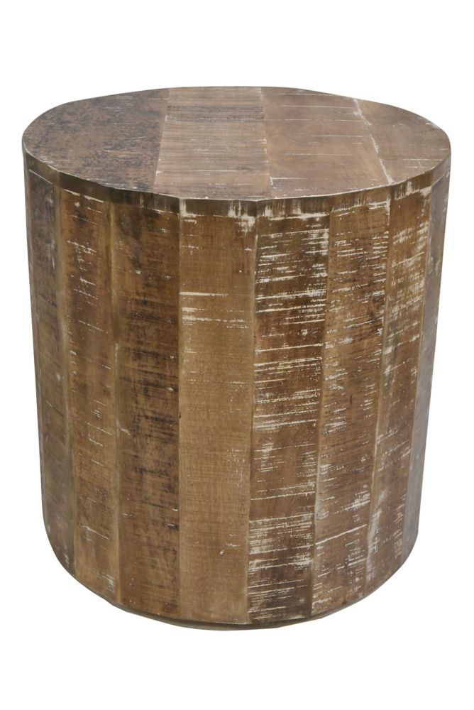 !nspire Eva-Accent Table-Distressed Natural