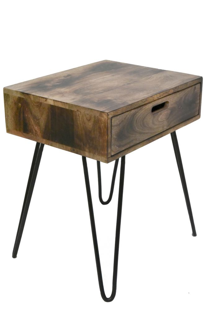 Jaydo-Accent Table-Natural Burnt