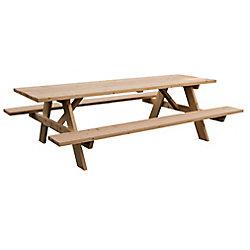 Adwood Manufacturing Ltd Grand 8ft Table de Pique-Nique