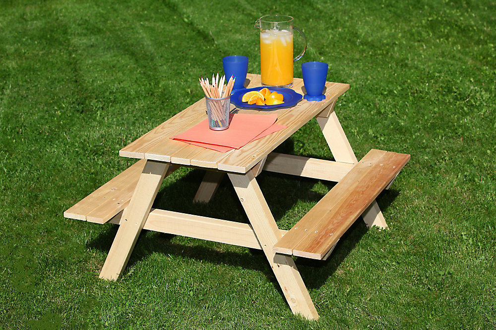 Kids Patio Furniture.36 Inch L Kids Patio Picnic Table