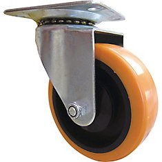 4 inch Orange TPU Swivel Caster with 300 lb. Load Rating