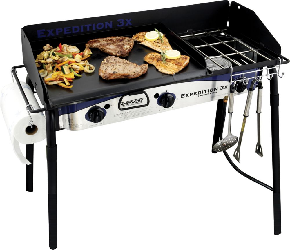 Camp Chef Expedition 3X Three-Burner Stove with 16-inch x 24-inch Griddle