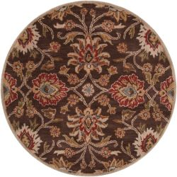 Home Decorators Collection Cambrai Brown 4 Feet x 4 Feet Round Indoor Area Rug