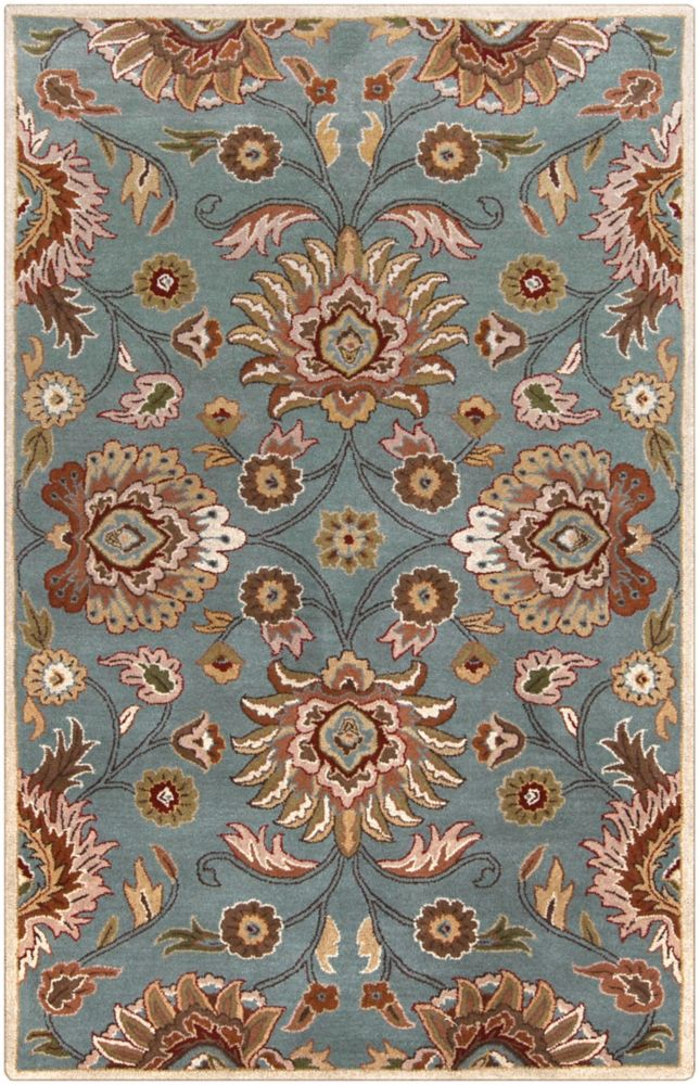 Home Decorators Collection Cambrai Blue 5 Feet x 8 Feet Indoor Area Rug