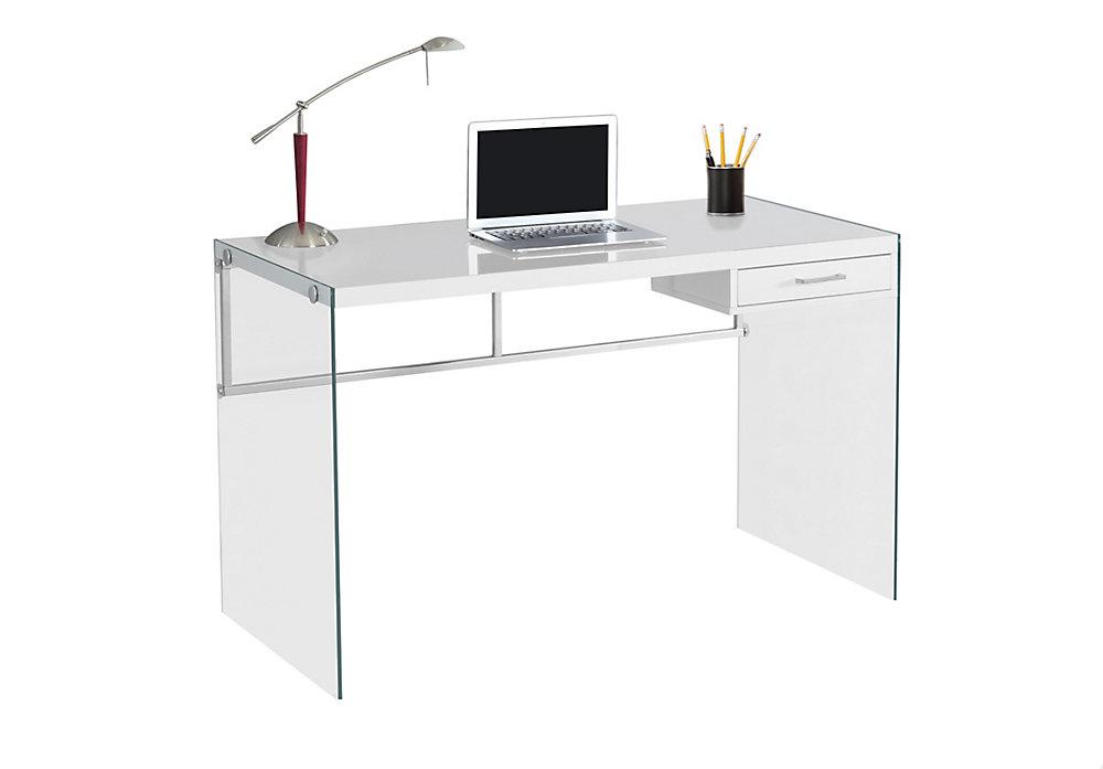 48-inch x 30-inch x 24-inch Standard Computer Desk in White