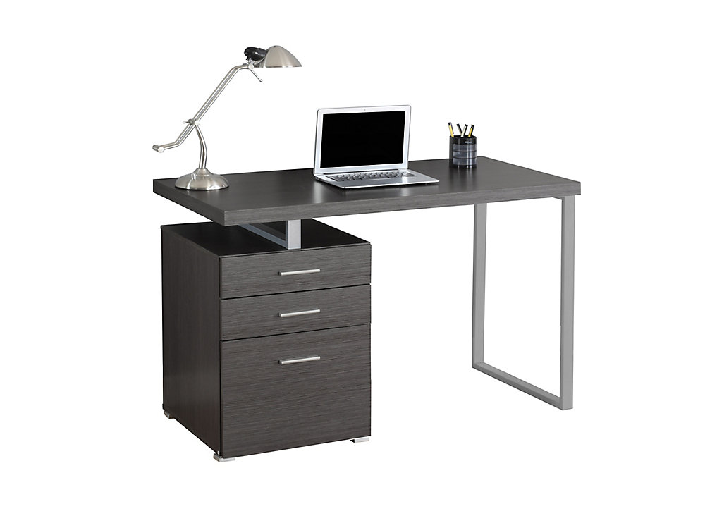 Fantastic 48 Inch X 30 Inch X 24 Inch Standard Computer Desk In Grey Home Interior And Landscaping Dextoversignezvosmurscom