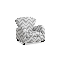 Juvenile Accent Chair in Grey Chevron