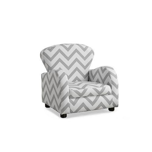 Monarch Specialties Juvenile Accent Chair in Grey Chevron