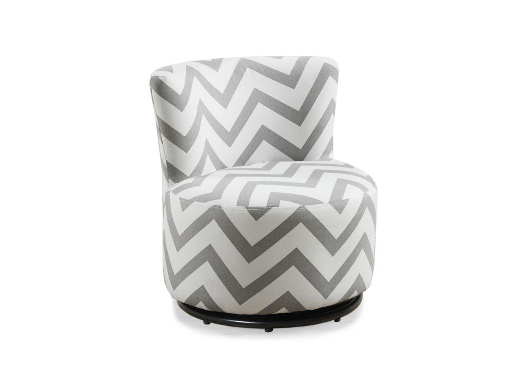 Juvenile Chair - Swivel / Grey Chevron Fabric