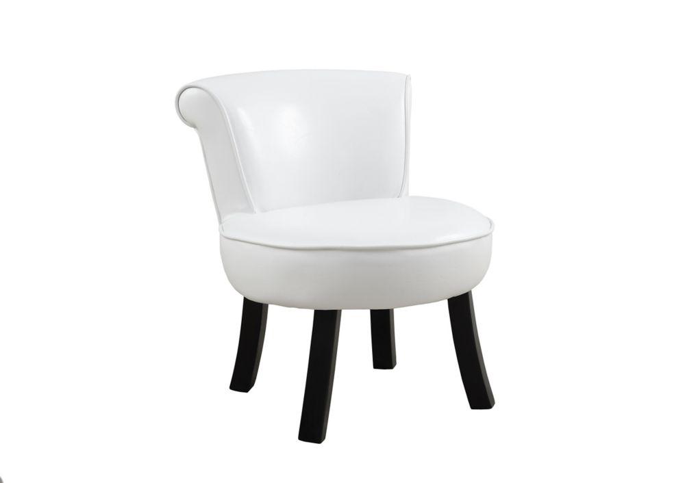 Chaise Juvenile - Simili-Cuir Blanc