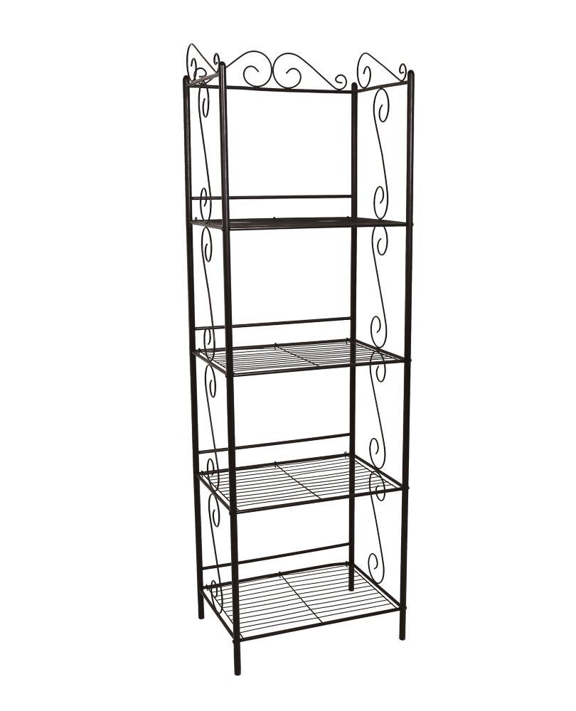 Monarch Specialties 22-inch x 70-inch x 15-inch 4-Shelf Metal Bookcase in Copper