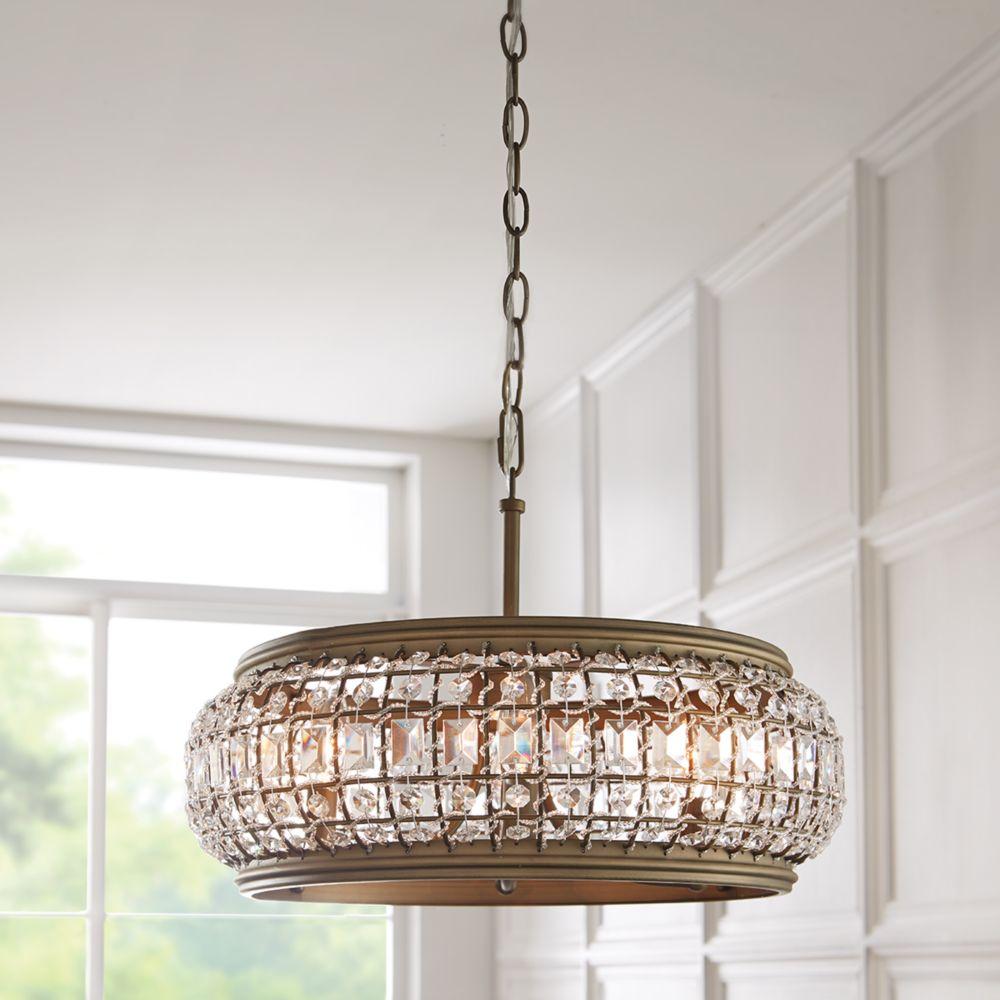 Hdc Home Decorators: Home Decorators Collection HDC 4 Light ORB/Gold Pendant