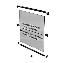 Peak Products AquatinePLUS 44-inch Pool Fence Rail Kit for Glass Panels- Black
