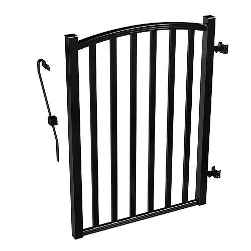 Peak Products Barrière de clôture de cour arrière AquatinePLUS en aluminium - noir - 3 pi de largeur x 4 pi de hauteur