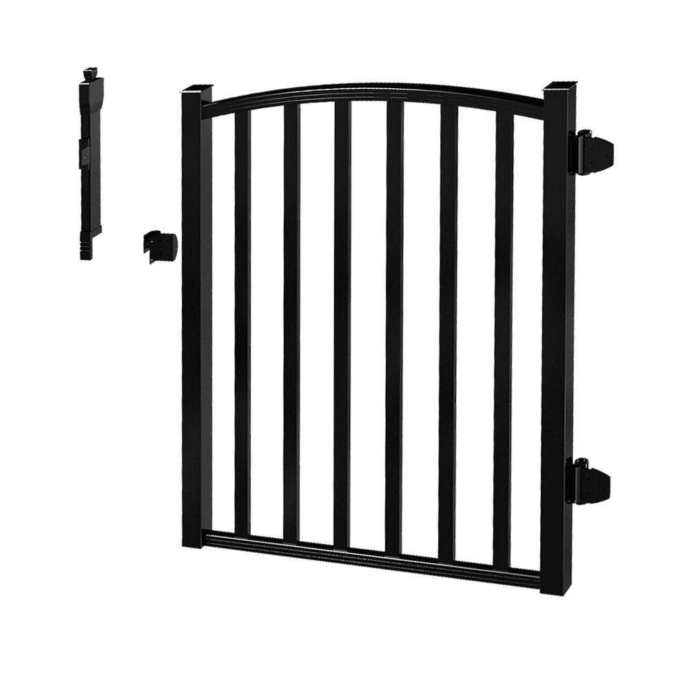 Peak Products 3 ft. W x 4 ft. H Pool Gate - Black