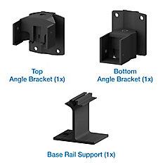 Picket Angle Bracket Kit - Black