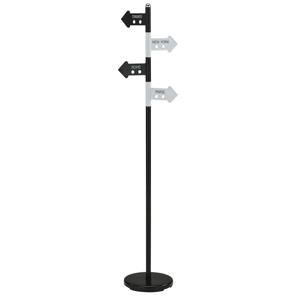 Waze-Coat Rack-Black/White