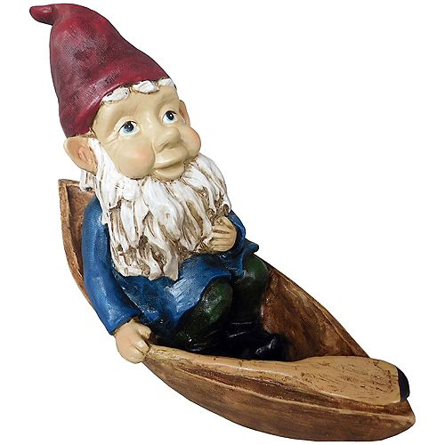 Angelo Décor Gnome in Canoe Statue