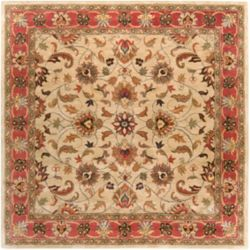 Home Decorators Collection Chaka Red 4 Feet x 4 Feet Square Indoor Area Rug