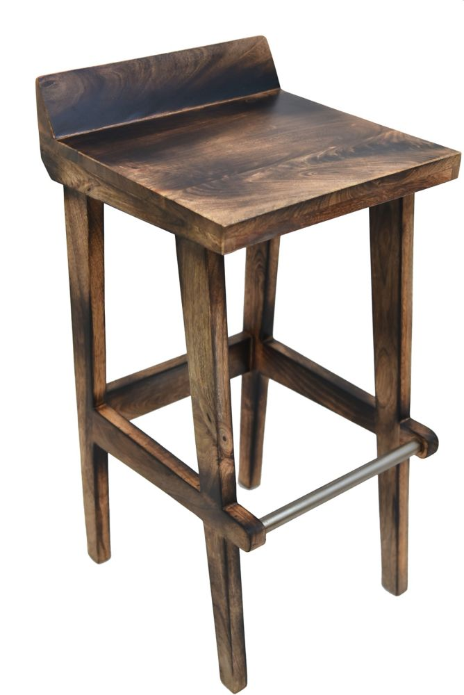 Ace-30 Inch  Bar Stool-Natural Burnt