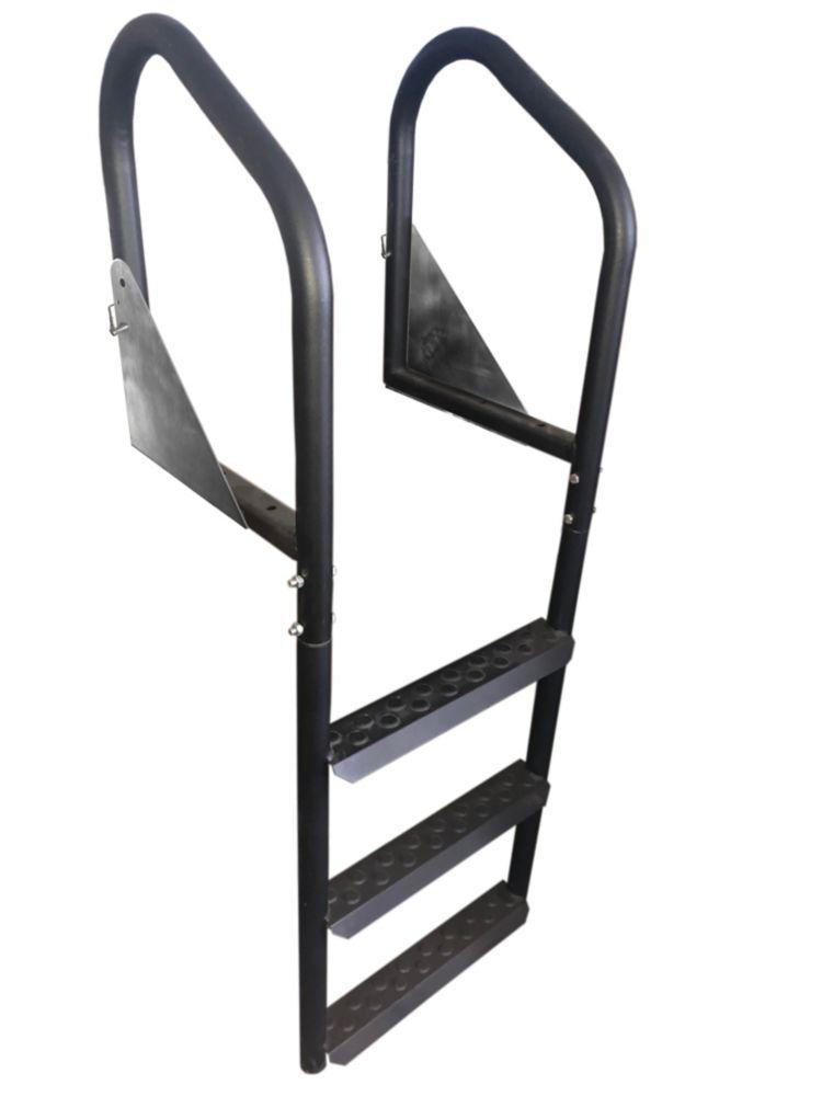 3 Step Steel Dock Ladder & Flip-Up