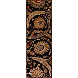 Home Decorators Collection Afonso Black 2  ft. 6-inch x 8  ft. Indoor Runner