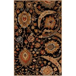 Home Decorators Collection Afonso Black 3  ft. 3-inch x 5  ft. 3-inch Indoor Area Rug